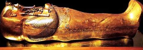 golden sarcophagus of King Tutankhamen