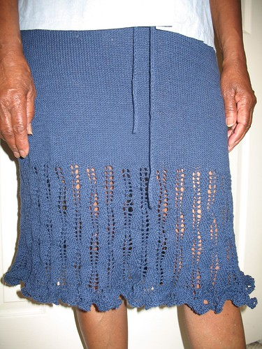 Indigo Ripples Skirt