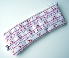 Red and White Measuring Tape Case