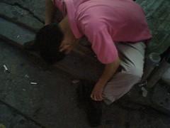 Drunk-Jamshil-Hunched_Over (Greg Samborski) Tags: camera sleeping man drunk out phone o