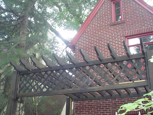 Pergola Roof close up