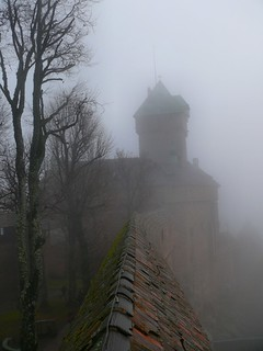 Vanishing kingdom. (Haut-Koenigsbourg castle in the fog [Photo credit: dynamosquito])