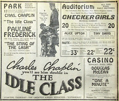 Original 1921 silent film newspaper advert for Charlie Chaplin in 'The Idle Class' (CharmaineZoe's Marvelous Melange) Tags: cinema film vintage advertising advertisement hollywood advert movies vintageads vintagecinema vintageadvertisements vintageadverts