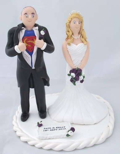 Tags superman wedding cake toppers figurines fimo handmade