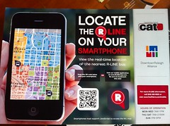 R Line in Raleigh using QR Code for mobile app #qrcode