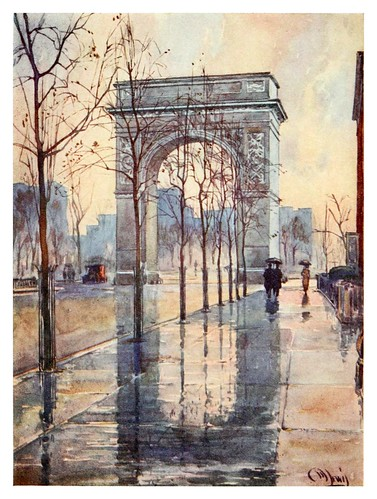 016-Arco de Washington en un dia de lluvia-New York- 1911-Martin Lewis