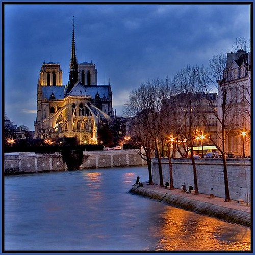 Notre Dame at Twilight, Paris by Rita Crane Photography.