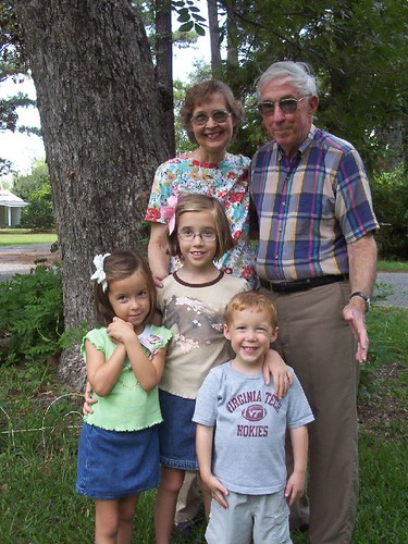 With the grandkids in 2007