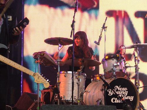 Bass, Sarah Jones - Drums.