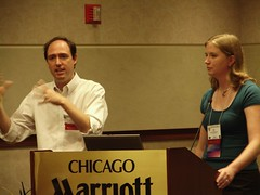 Scott Rice and Amy Harris talk about creating an information literacy game at the University of North Carolina, Greensboro Library