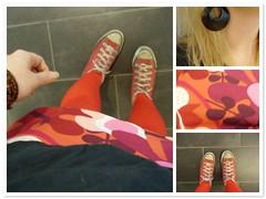 Mosaic (ingridesign) Tags: red ingrid outfit mosaic retro converse hm today bighugelabs