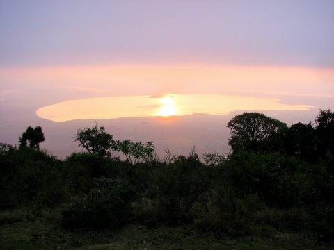 one more caldera lake sunrise