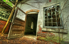 Hospital entrance (Timothy Neesam (GumshoePhotos)) Tags: door abandoned window hospital ruins factory empty entrance timothy hdr neesam photomatix