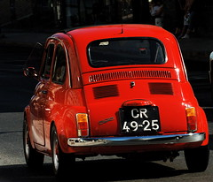 red cars portugal rouge fiat lisboa cinquecento ennstalclassic encarnado flickrduel worldcars rotrossorougerood 1on1planestrainsautomobiles