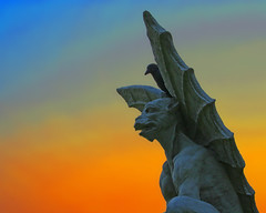 On Guard (Daniel Light) Tags: orange catchycolors haunted gargoyle louisville ghosts shadowpeople waverlyhillssanatorium colorphotoaward diamondclassphotographer dglframe