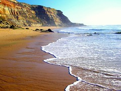 Sand's bath (Sandra_R) Tags: ocean blue light sea summer cliff santacruz seascape torresvedras beach nature wet water outdoors photography reflex sand marine rocks paradise afternoon exterior shine natural bright nobody fresh simplicity stillness depth naturalworld clearsky clearwater stacruz naturesfinest blueribbonwinner anawesomeshot goldenphotographer theperfectphotographer