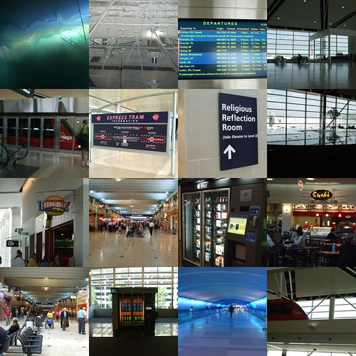 collage of airport pics