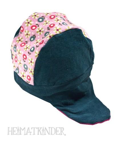 corduroy hat with retro flowers