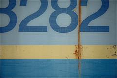 34221 (Kurt Kramer) Tags: blue abstract sign colorful geometry line weathered lettering simple patina