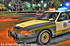 Kuwait Police Car (HDR) (ELManCHesTarawi) Tags: ford canon police kuwait hdr   550d     kuwaitpolice canon550d