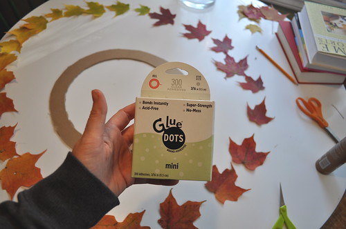 Leaf Wreath - Glue Dots rule