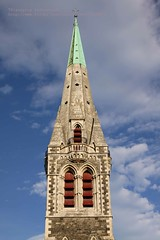 Christchurch, Cathedral (blauepics) Tags: new city tower architecture clouds island coast south details wolken canterbury inner east zealand architektur turm aotearoa eastcoast innenstadt neuseeland sdinsel visipix