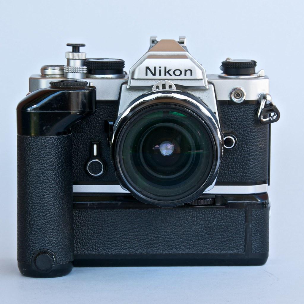 Nikon FM with Nikkor HC 28mm &  winder MD-11 nº 1