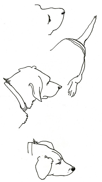 two dogs : four sketches