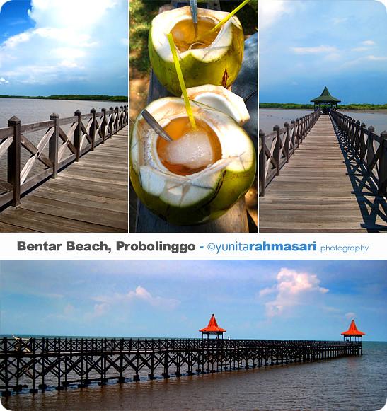 (Collage) Bentar Beach of Probolinggo