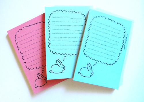 Dreamy Bunny Mini Notepad