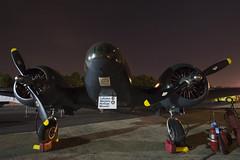 Beech 18 C-GZCE (pgengler) Tags: night plane airplane republic aircraft farmingdale aam nightunderthestars beech18 frg americanairpowermuseum kfrg republicairport farmingdalerepublic cgzce