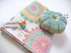 :: Dreamy Pincushion :: (Warm 'n Fuzzy) Tags: cute hearts handmade craft pins fabric pincushion zakka