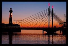 This is my Good-Bye to Malmo (Andrea Guandalini) Tags: bridge sunset reflections bravo tramonto colours sweden colori malmo svezia wetreflections sunsetcolours abigfave colorphotoaward top20travelpix