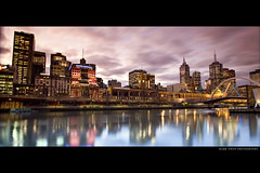 Reflecting on the Yarra (markdanielowen) Tags: street city bridge station canon river photography lights mark melbourne victoria yarra vic cbd owen flinders markowen melb yarrariver flindersststation mywinners colorphotoaward goldenphotographer diamondclassphotographer markdanielowen markowenphotography
