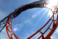 Loop the loop (Heaven`s Gate (John)) Tags: vacation england danger fun happy upsidedown fear revolution rollercoaster funfair blackpool exciting bigdipper rollercoasters pleasurebeach 10faves johndalkin heavensgatejohn wowiekazowie rollercoastercalendar2008
