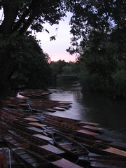 [Cherwell punts at high water]