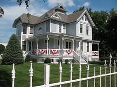 Blue Victorian House (Front) - by sarrazak6881
