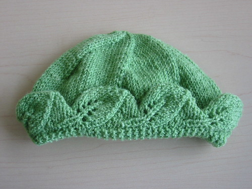 baby hat leaf knitting knit toque tuque