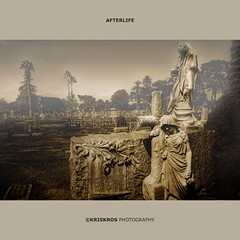afterlife (Kris Kros) Tags: california santa ca people usa halloween cemetery grave graveyard statue cali fog dead photography la us losangeles high peace cross dynamic rip tombstone creepy spooky socal monica kris rest range hdr kkg woodlawn afterlife restinpeace dearly departed photomatix kros kriskros kk2k kkgallery