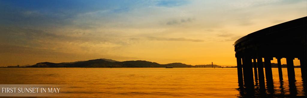 夕陽五月天