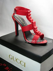 Shoebox and Stiletto Cake (Creative Cakes by Julie) Tags: cake gucci 30thbirthday stiletto shoebox