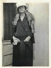 1920s woman man halloween hat vintage fur photo fox eyeglasses droop twenties