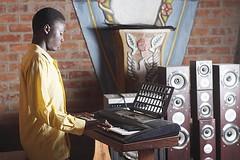 The catholic Church of Monakey Bay, Malawi (stefaniegiglio) Tags: africa music men art church choir catholic singing african religion paintings statues malawi speakers gospel carvings keyboardist hymnal malawian