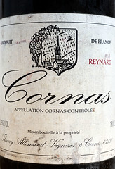Cornas, Reynard, Domaine Thierry Allemand. (O.Blaise) Tags: red france rouge wine label south shiraz syrah sud vins gastronomy rhonevalley tiquette reynard cornas valledurhne thierryallemand