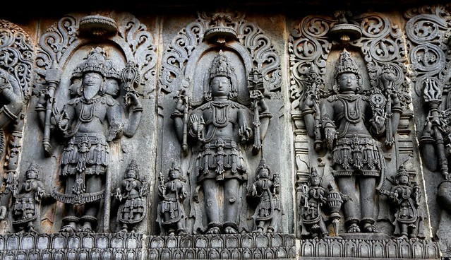 Trinity Sculpture, Hoysaleswara Temple, Halebid (Karnataka)