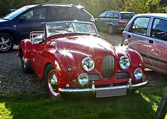 Polesden Lacey - Oct 2010 - Jowett Jupiter - Classic Red Sports Car
