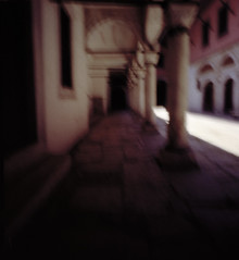 blurred memory of the harem (sarafigal) Tags: color 120 film mediumformat istanbul pinhole topkapipalace harem deserted zeroimage zero69 zeroimage69 blurredmemoryofaplace weneverknew exceptinstories