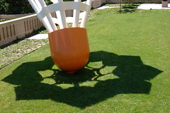 shuttlecock shadow (lemurdillo) Tags: travel sculpture museum kansascity missouri nelsonatkins shuttlecock 2007