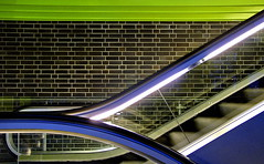 Blue with Green (petergrossmann) Tags: night germany nacht escalator dortmund 2007 ih rolltreppe ipernity 500x309 peter…