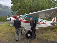 Checking out Mark's Super Cub